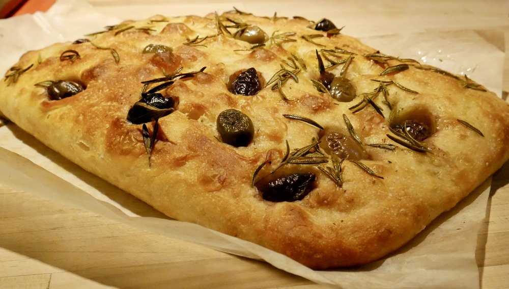 Olive and Rosemary Foccacia