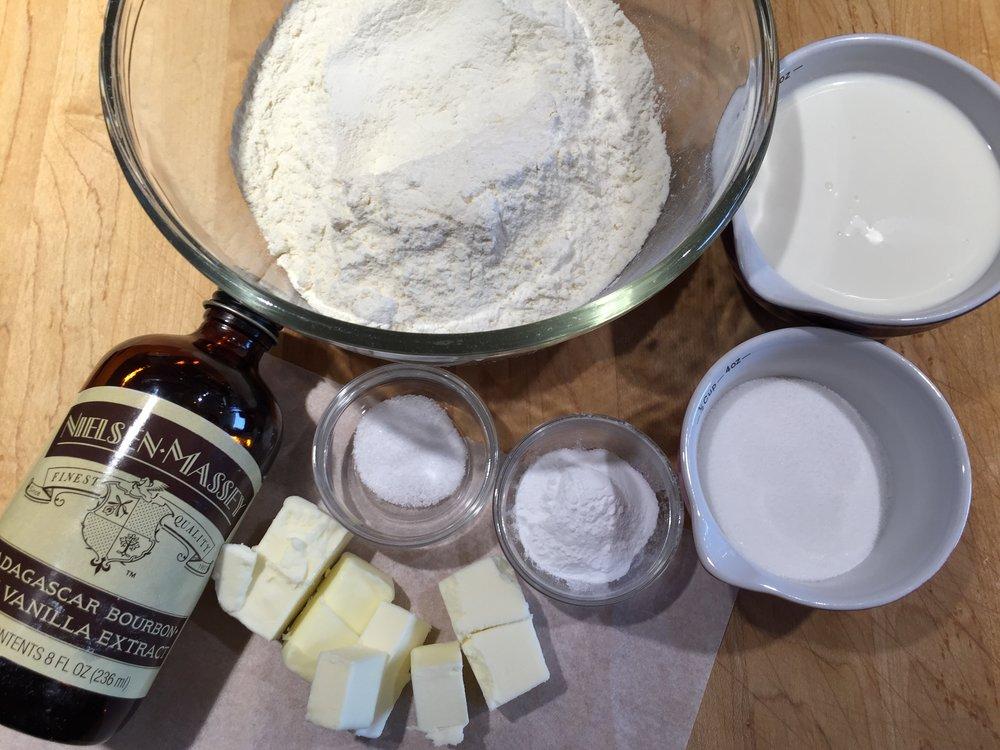 Shortcake mise en place