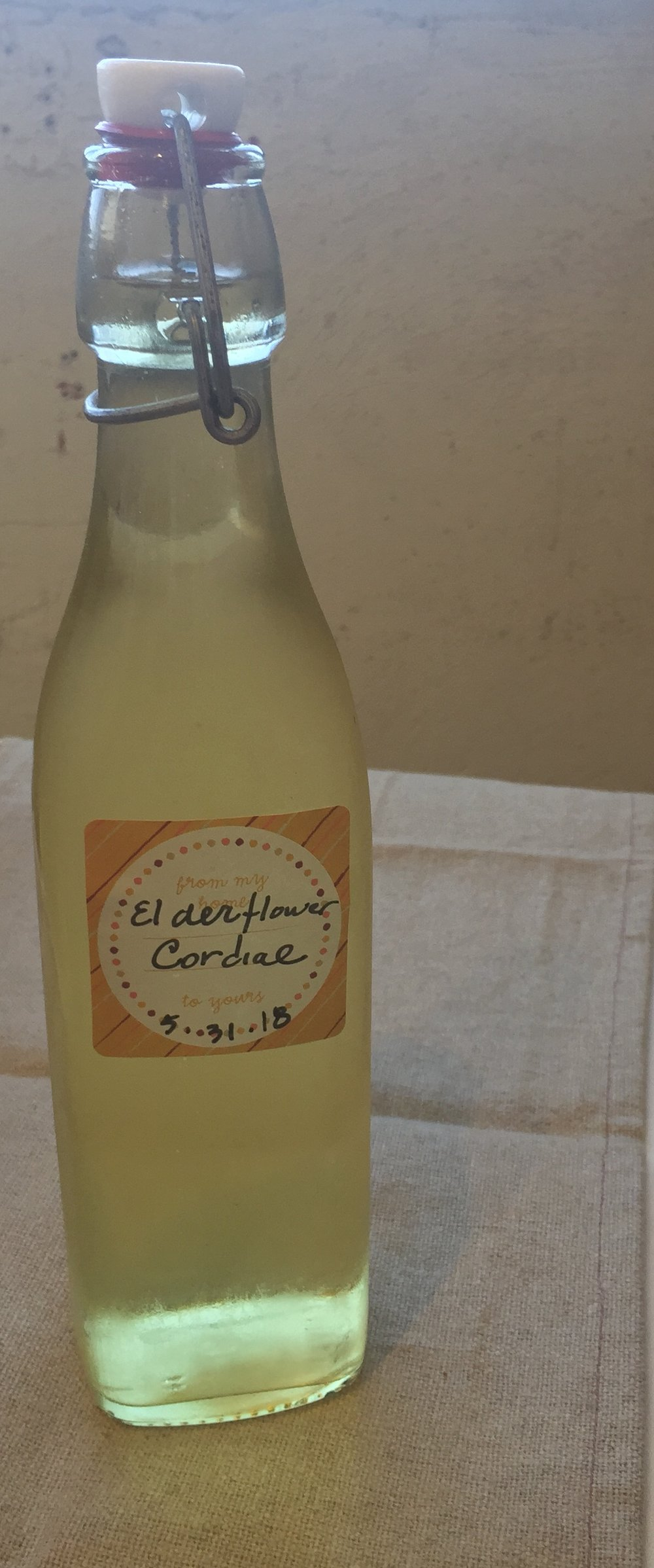 Tall, cool, floral and sweet...Elderflower Cordial