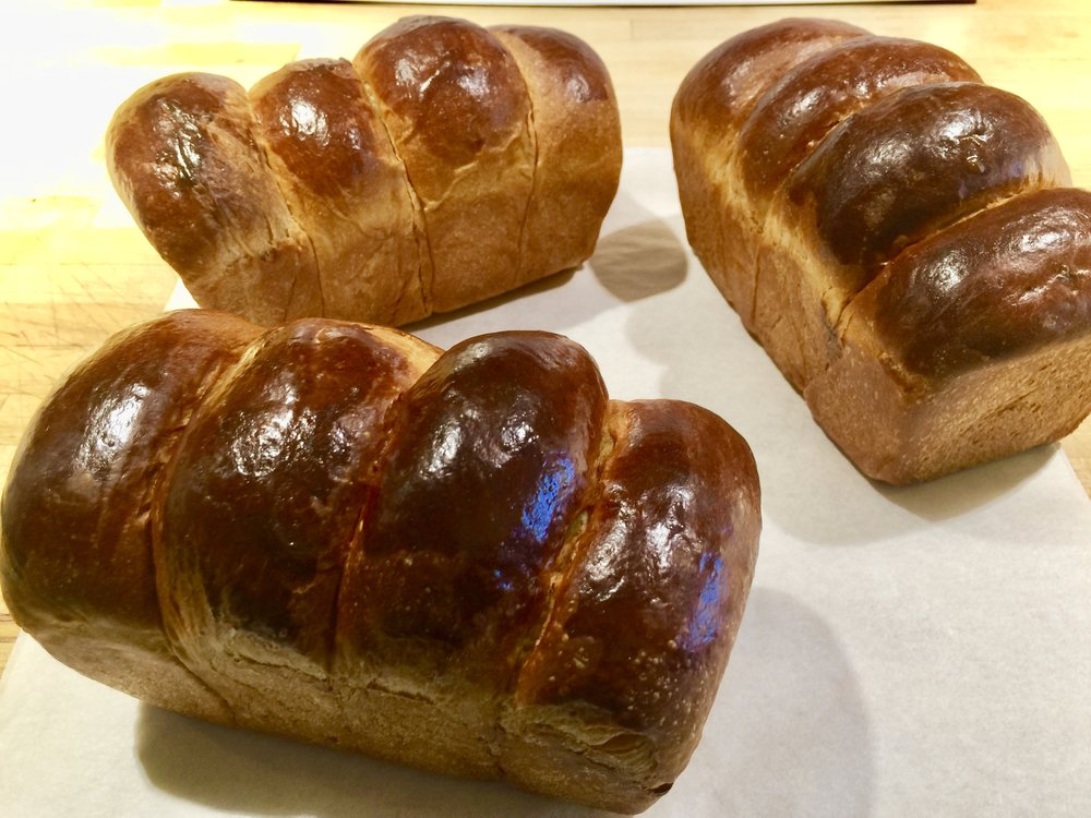 Baby Brioche loaves also known as Nanterre...