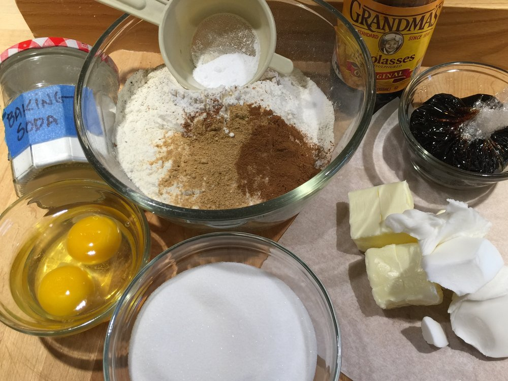 Molasses Crinkle Cookies - Mise en Place