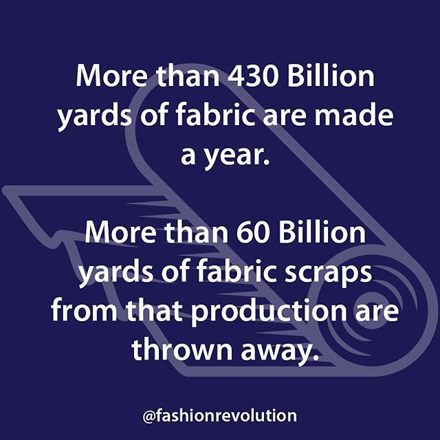 It's time to address this problem in the fashion industry. Check out our website www.threadcyclenyc.com to see what we're doing about it. . #fashionrevolution #wastenotwantnot #threadcycle #threadcyclenyc #sustainability #fabricisnottrash #waste #landfill #fabric #textiles