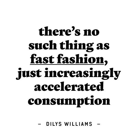 Think about your purchases. How much is enough? Another great quote from @dilys.williams taken from @fash_rev. Practice #conscious #consumption . . #threadcycle #threadcyclenyc #fash_rev #fashion #wastenotwantnot #textilesarenotwaste #fashionisnotgarbage