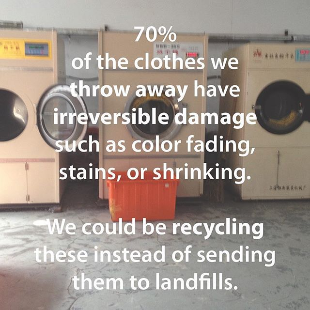 Help us recycle unused scrap textiles and unusable clothing! #fabricisnottrash #reducereuserecycle #sustainable #fashion #conscious #consumption #fashrev #fashionrevolution #waste #recycling