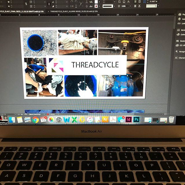 Free on Thursday morning? Come see our final presentation as part of the @parsonselab 2018 cohort! Presentations will be from 9am-10:30am at Parsons University Center room UL105. Breakfast served at 8:30 with a meet and greet! DM for any other details! #threadcycle #threadcyclenyc #entrepreneur #startup #recycling #textiles #fashion #sustainability #parsons #fabricisnottrash #wastenotwantnot