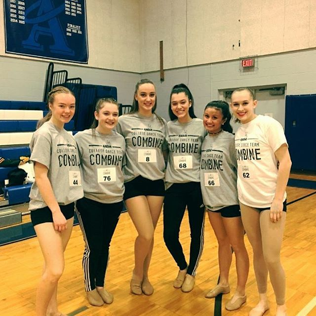Sophomores Kelly, Zoe, Amanda, Sophia, Sammie and Junior Natalia are representing the Cougarettes today at the @udadance College Combine! A day full of learning how the college dance team audition process works, and an opportunity to meet with college dance team coaches. Follow @udadance and @holyangelsdancenj to see behind the scenes of the event! #MONTY #danceteam #udacollegecombine