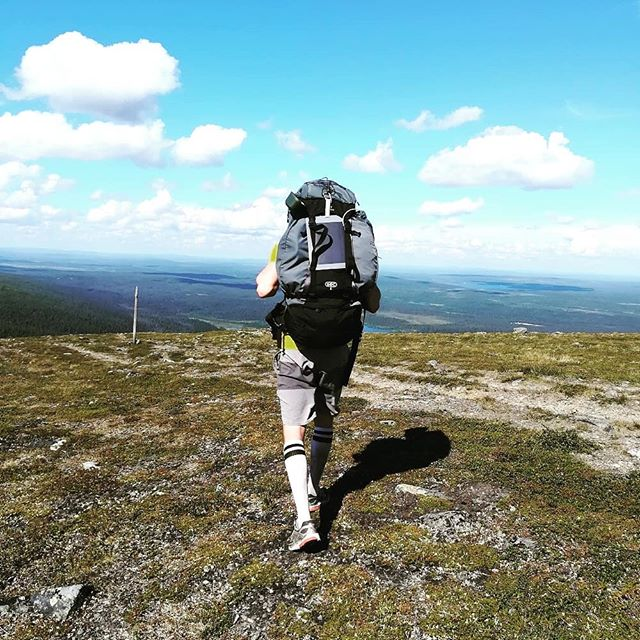 Our Hidedesign friend in North of Finland with our new portable solar panel charger. Big thanks to Pena, great to see our solar panel help with energy in the wild.  Soon available in our shops ;) #solarpanel #hidedesign #Finland #landscape