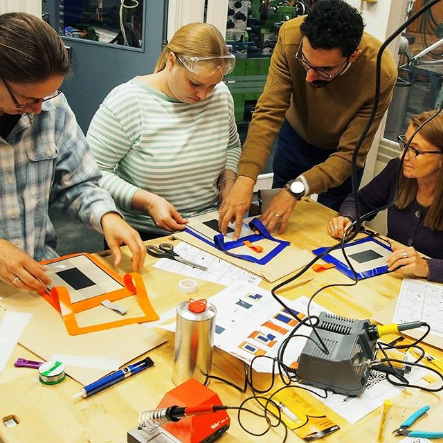 This Friday we had a DIY workshop with Jyväskylä teachers in Kilpisen school, they were the best and most creative bunch we ever had in our DIY Solar Charger workshops. #Kilpisen yhtenäiskoulu #Jyväskylä #solarpanel #sustainability #hidedesign #Finland