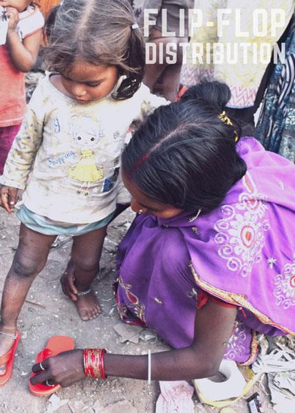 Hands 4 Zero Poverty H4ZP Flip Flop distribution