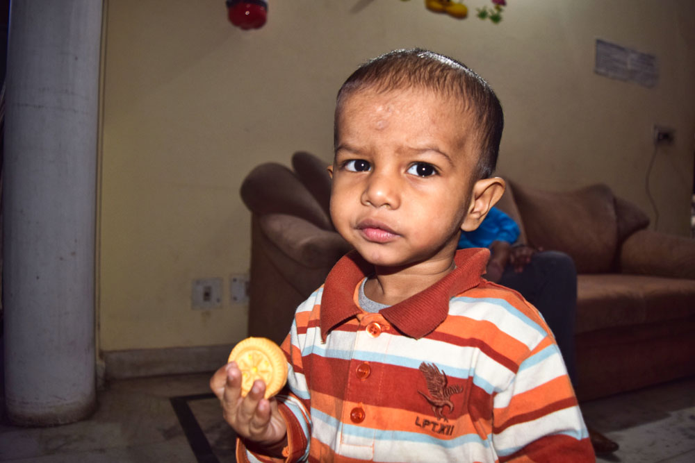 His mother dropped him off at the police station and then suddenly collapsed. She was brutally attacked prior to dropping the child at the Police Department. The policy has not been able to find her attacker. No one has come forward to claim him or has reported him missing for 90 days. He has been adopted and is living happily with his new family in India.