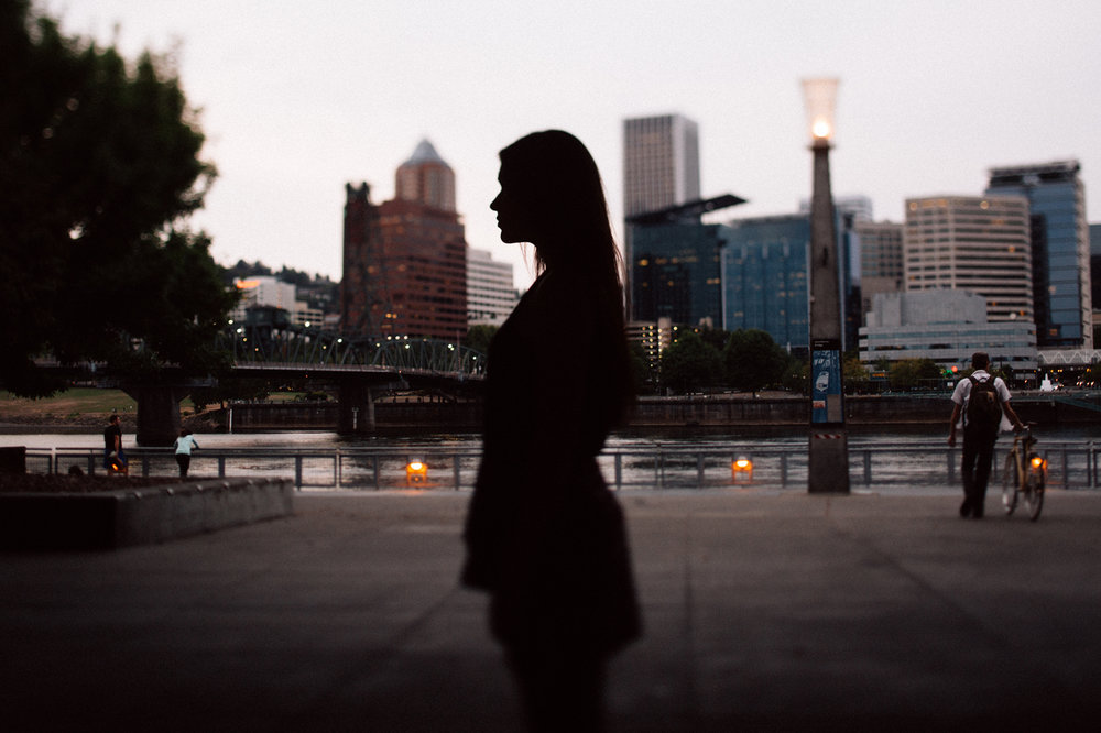 Portland senior photos on the Eastbank Esplanade