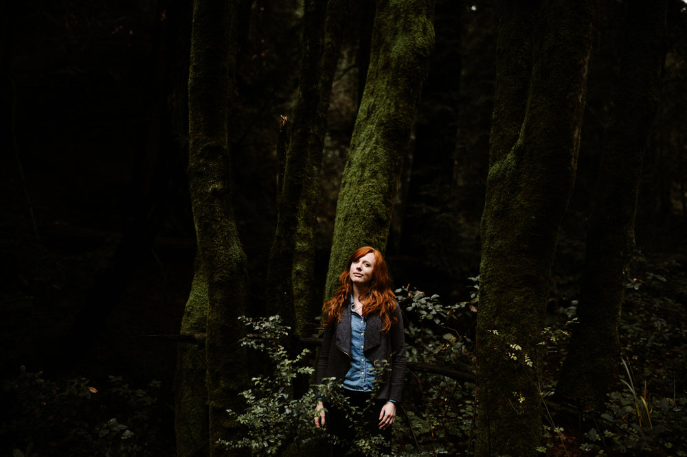 Senior pictures in the forest