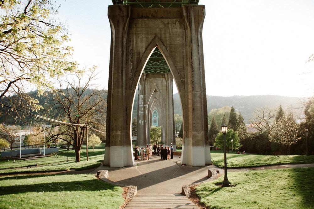 Cathedral Park Portland Oregon Wedding