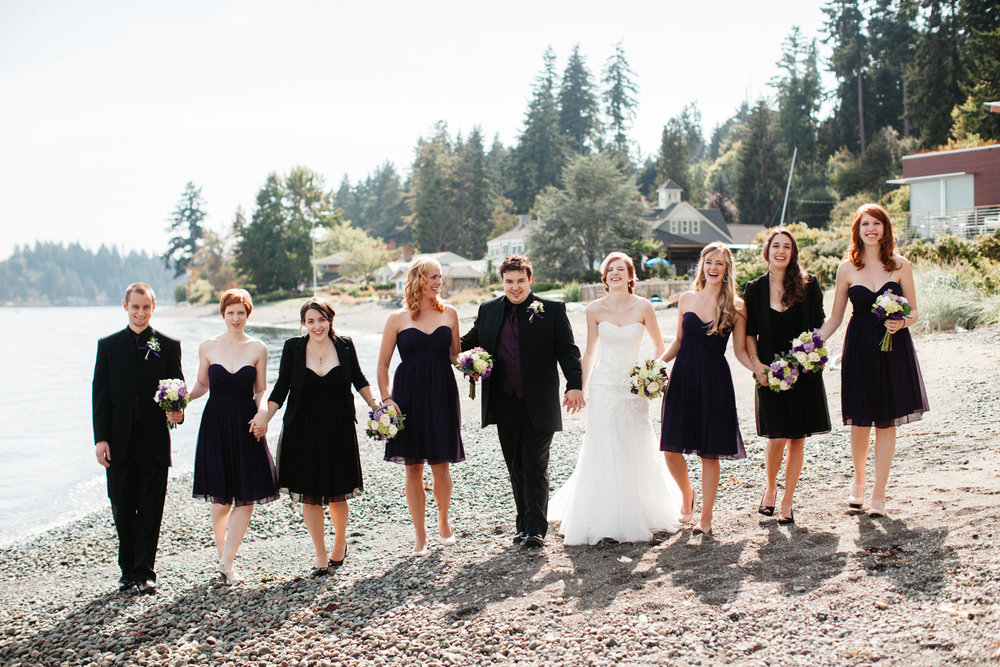 Bainbridge Island beach wedding