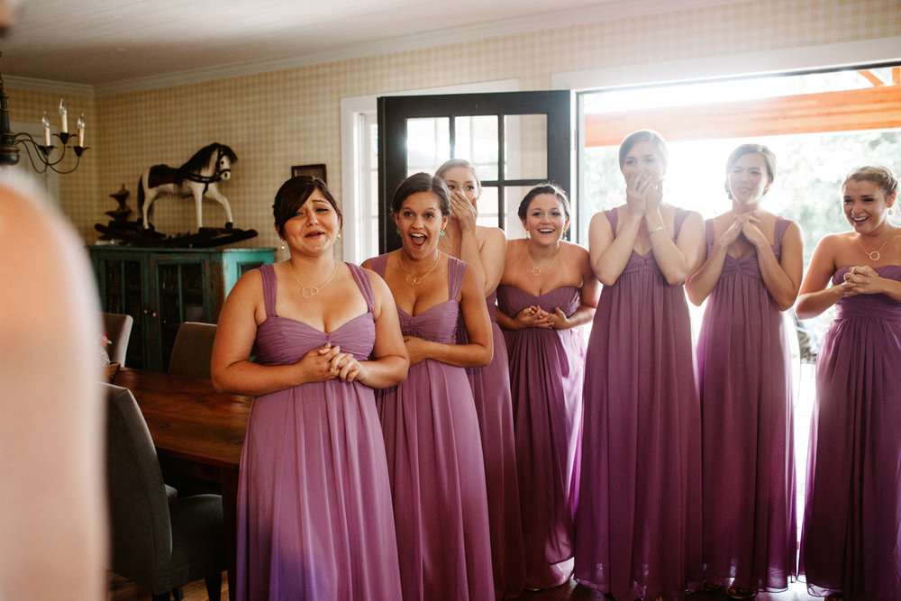bridesmaids first look ideas