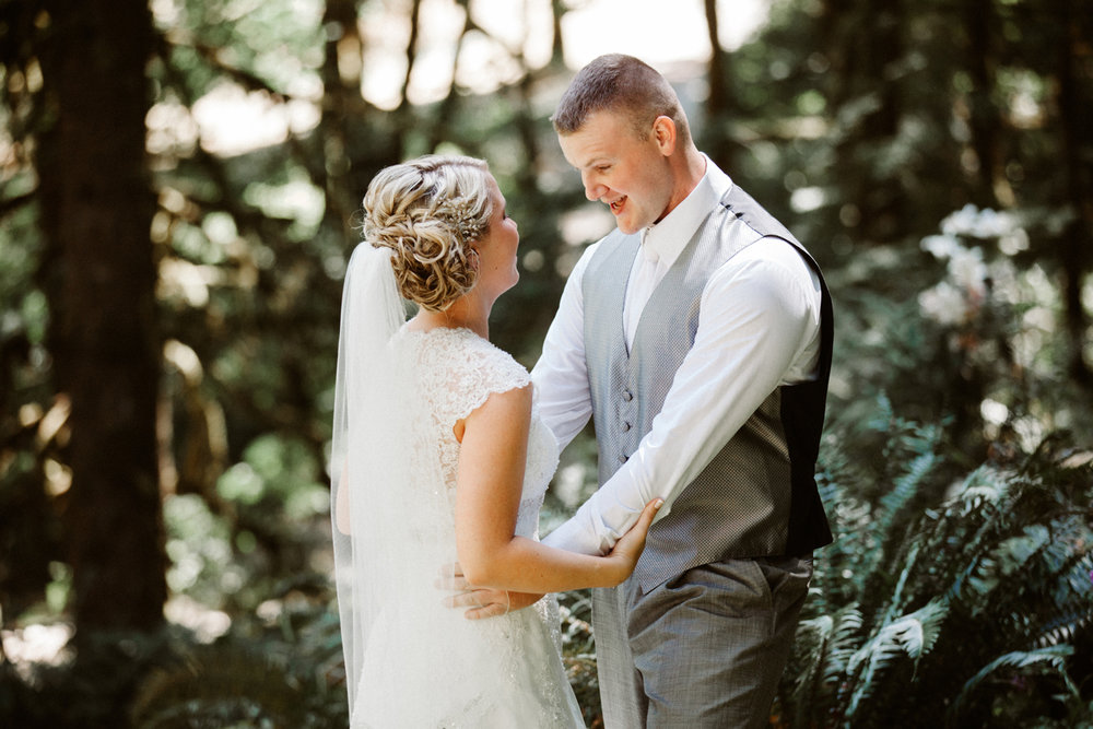 Oregon forest wedding photos