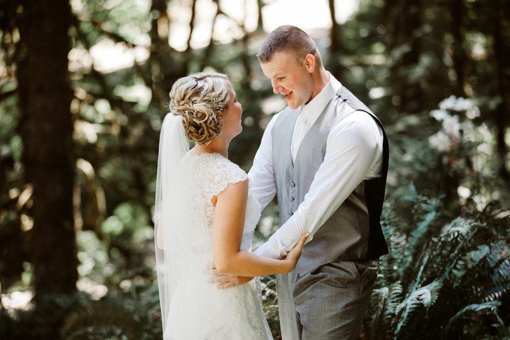 Oregon forest wedding photos
