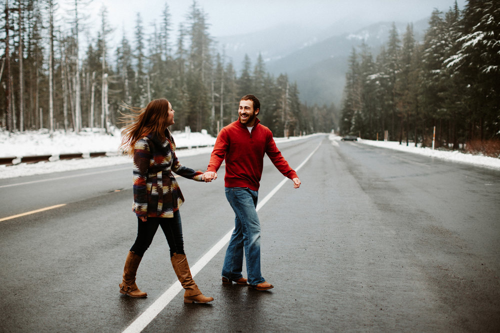 Mt Hood Oregon Engagement photos