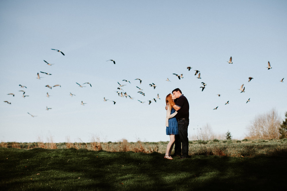 Creative and unique Portland engagement photographer