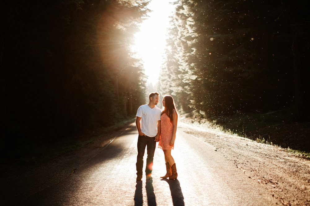 Mt. Hood National Forest summer engagement photos