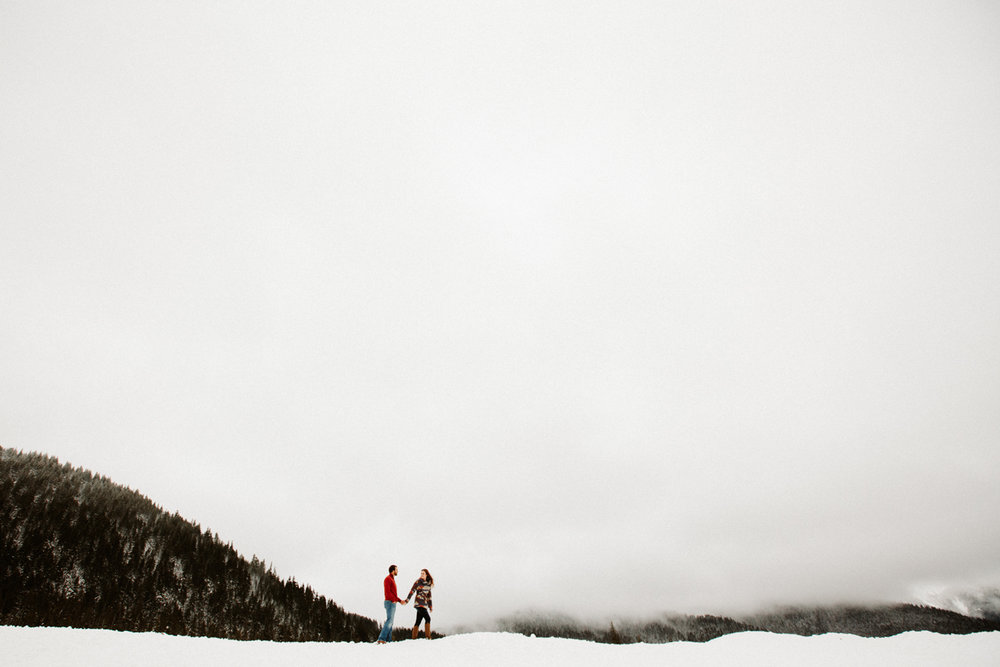 Mt. Hood winter engagement photos