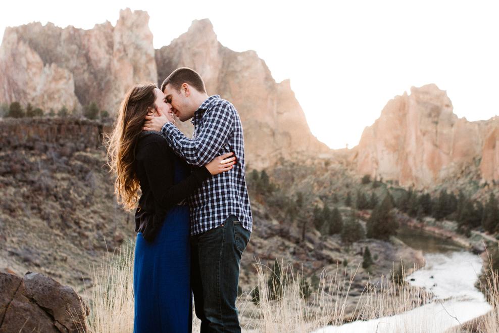 Smith Rock romantic engagement photos