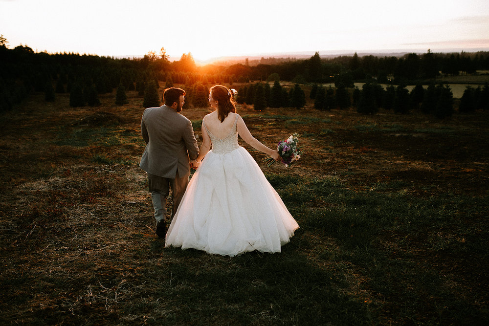 Christmas Tree Farm Wedding Photos