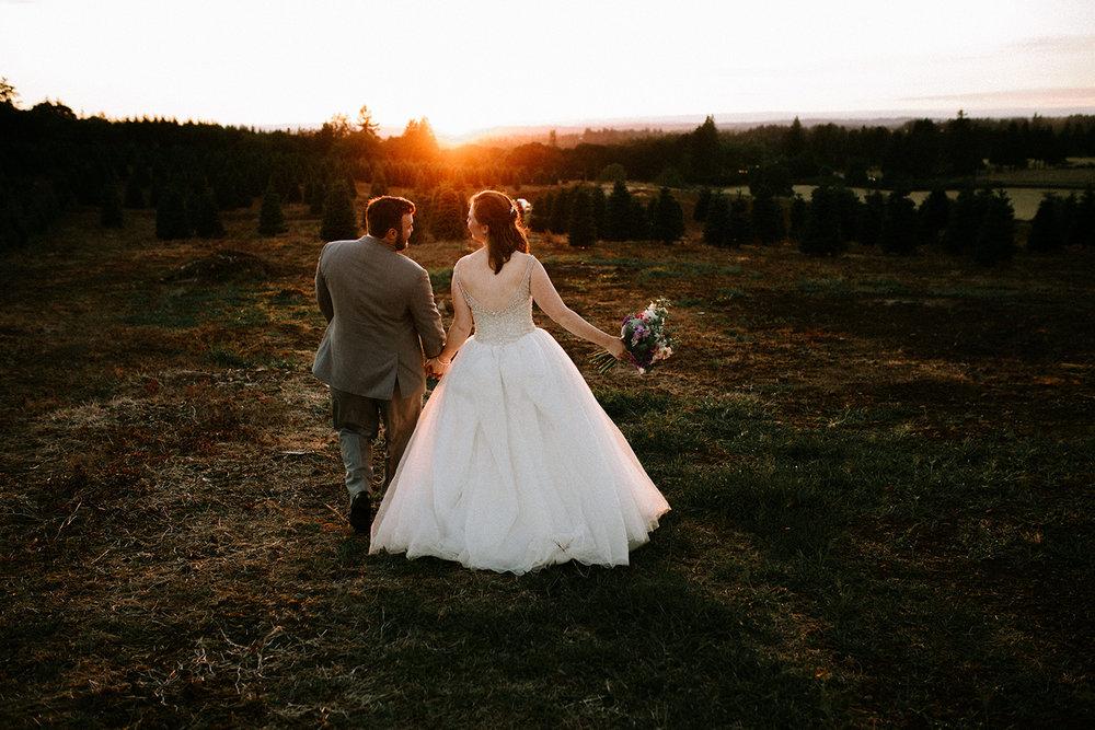Christmas Tree Farm Wedding Photos