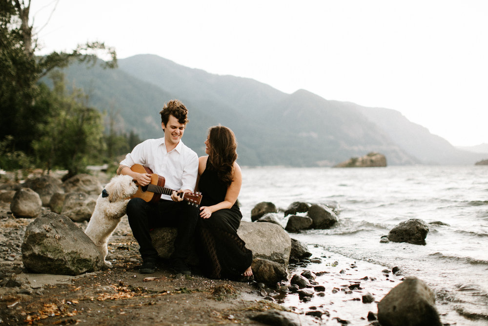 Engagement photos at Viento State Park in the Columbia River Gorge