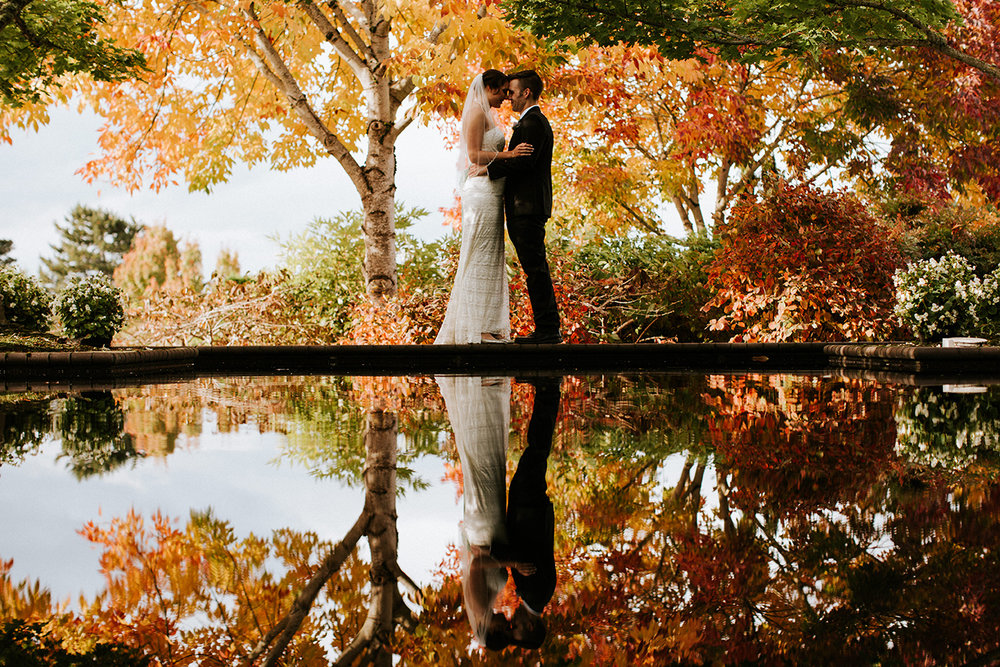 The Oregon Garden Fall Wedding