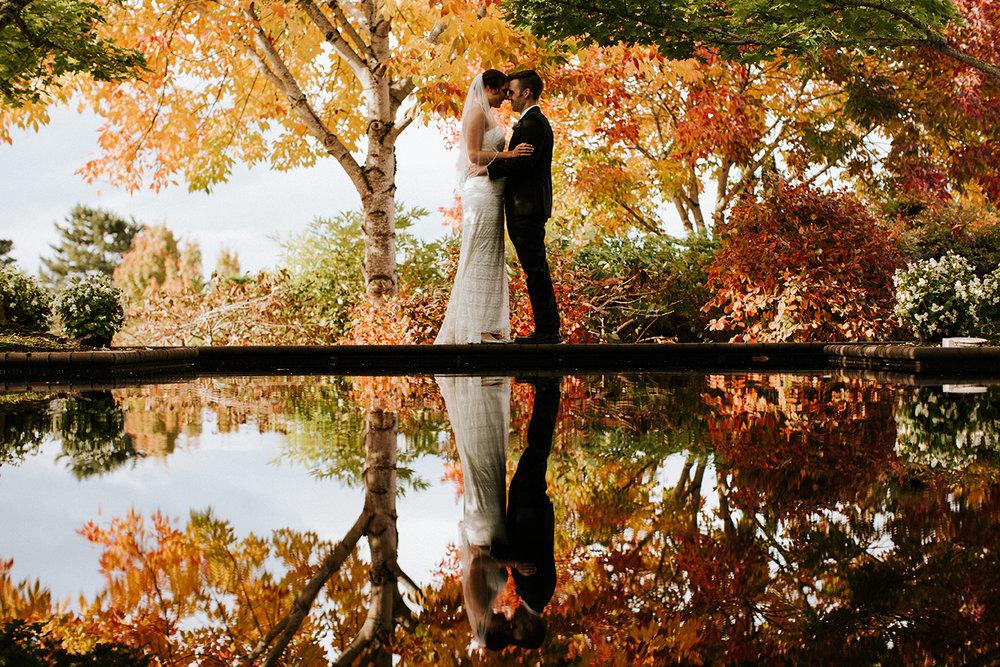 The Oregon Garden Fall Wedding