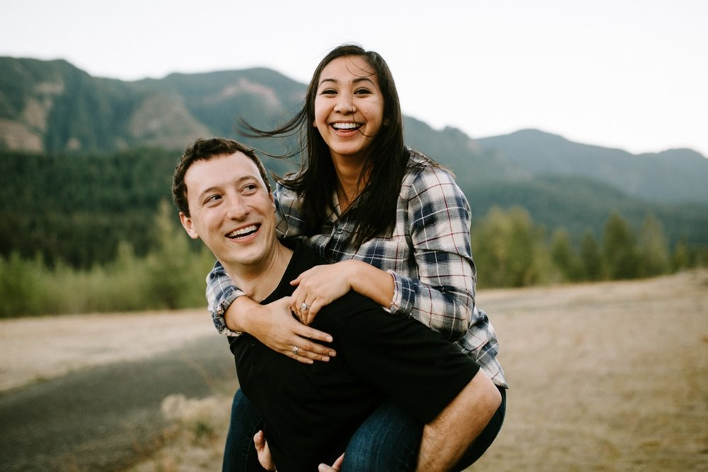 Fun Portland engagement photo ideas