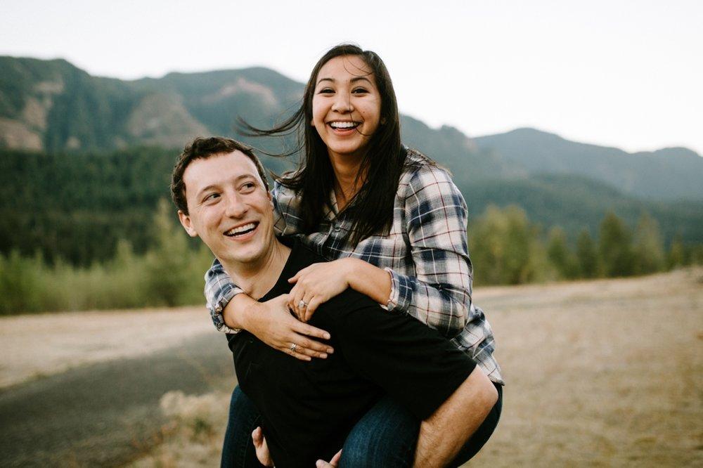 Fun Portland engagement photo ideas