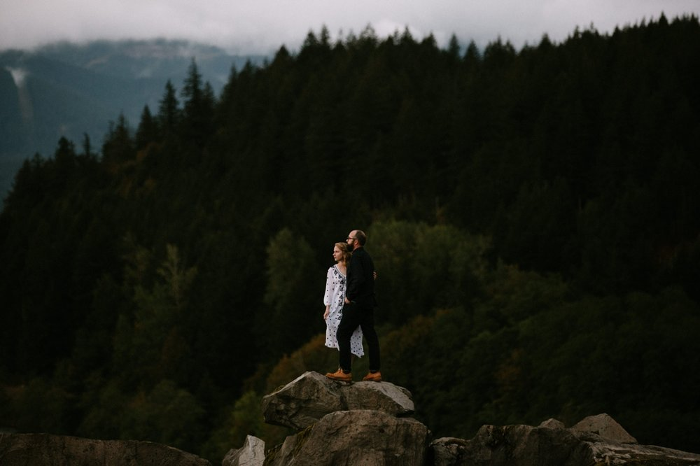 Moody Pacific Northwest engagement photos