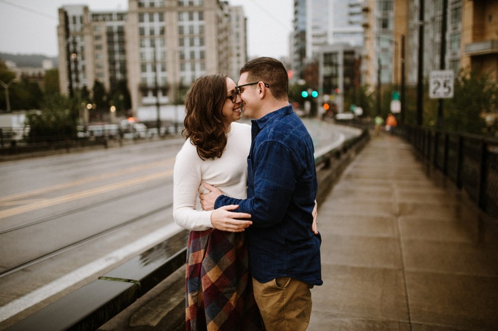 Portland Oregon engagement photos in the Pearl district