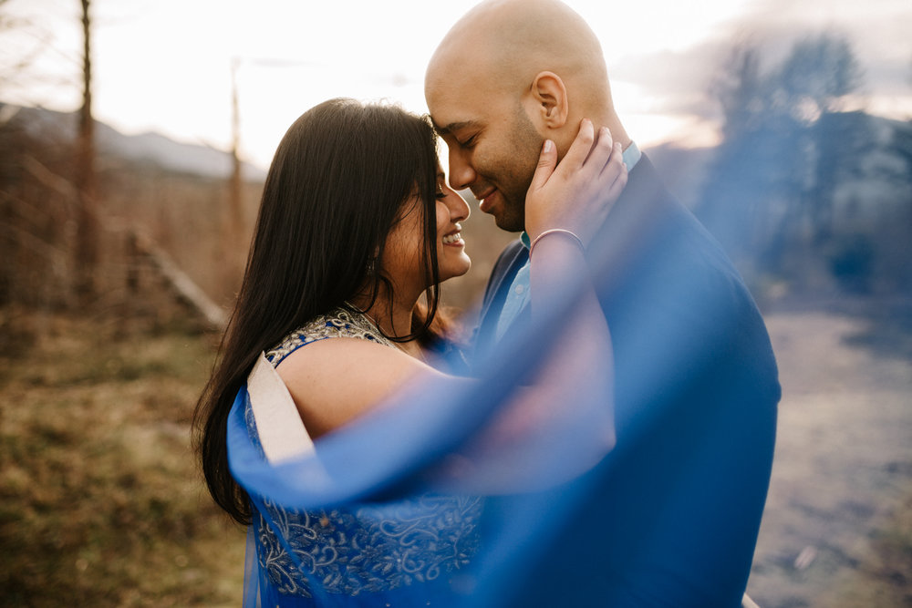 Indian engagement photos in Portland Oregon
