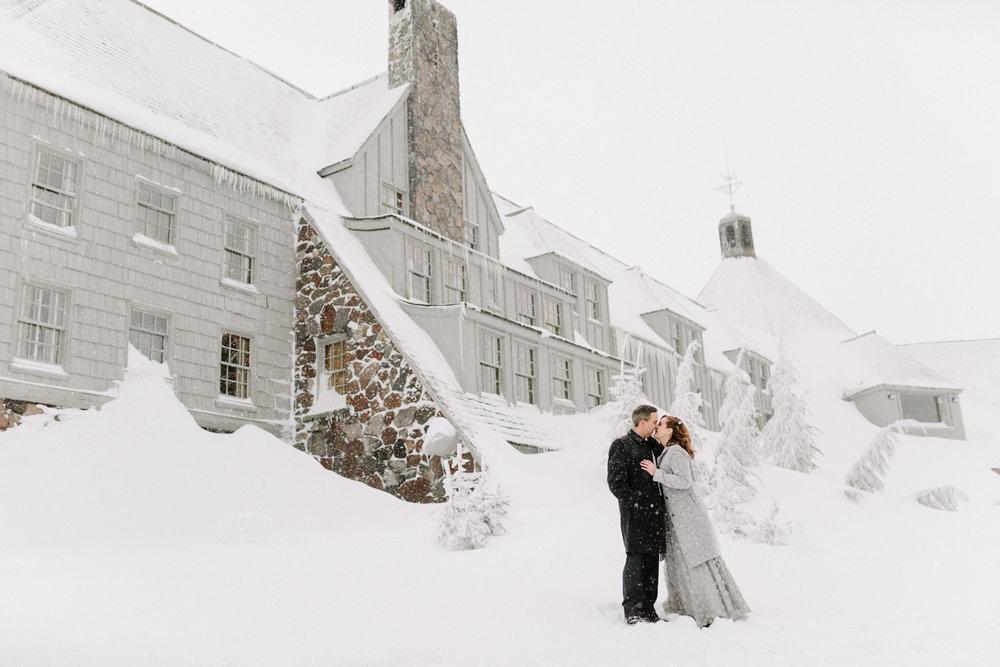 Timberline Lodge winter wedding