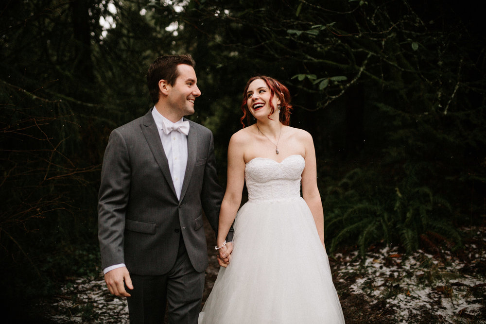 Hoyt Arboretum forest elopement photographer