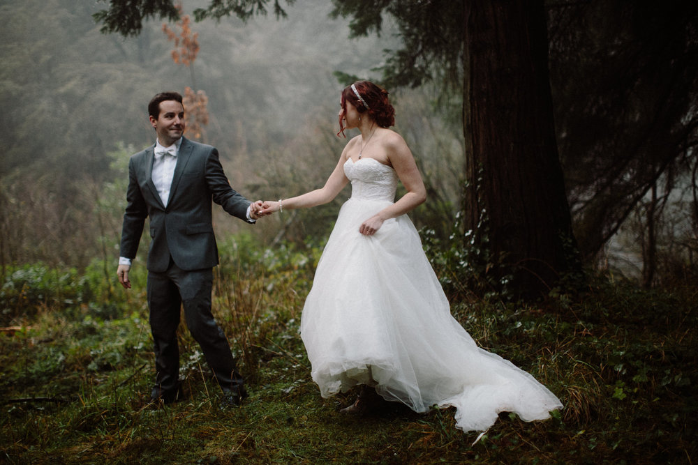 Hoyt Arboretum winter elopement