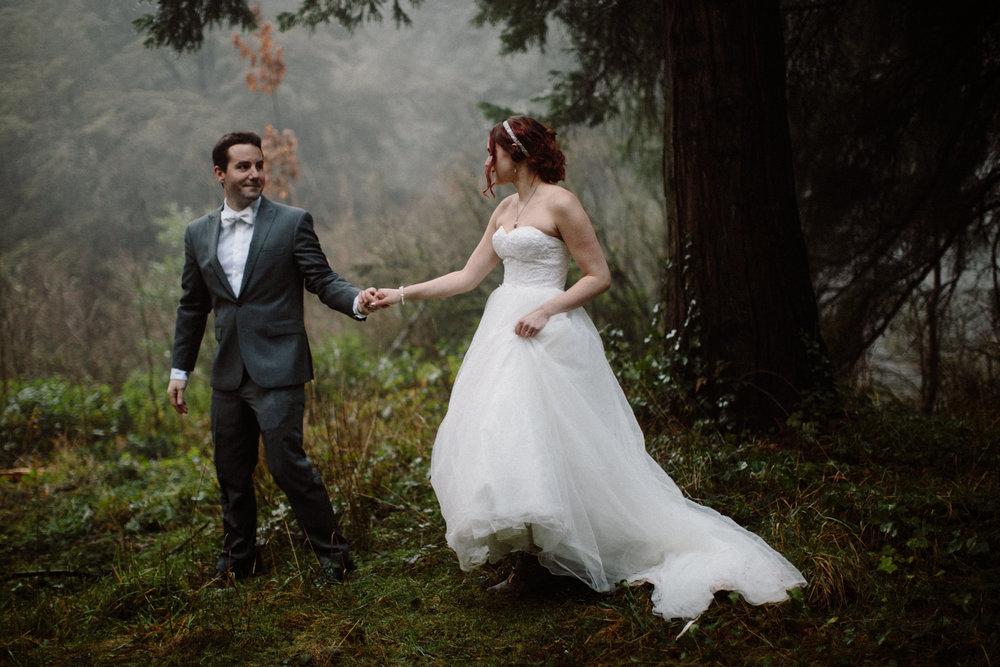 Hoyt Arboretum winter elopement