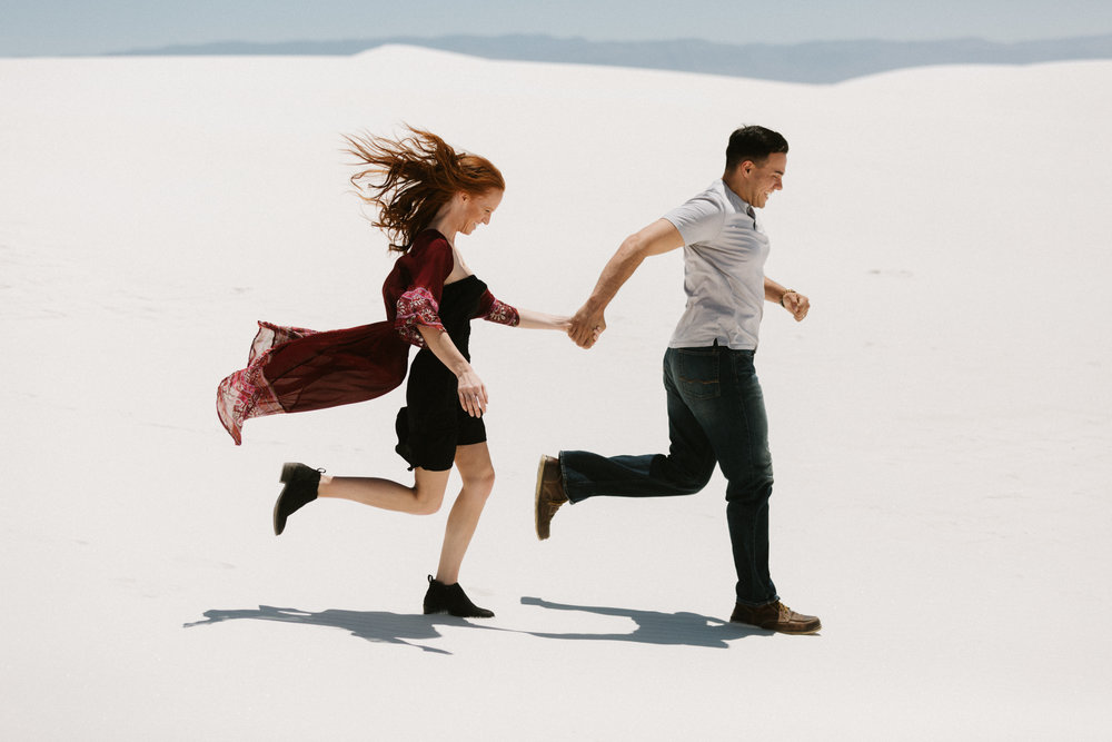 White Sands, New Mexico engagement photos