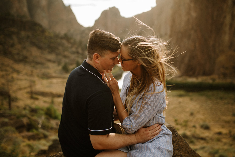 Smith Rock, Bend engagement photographer