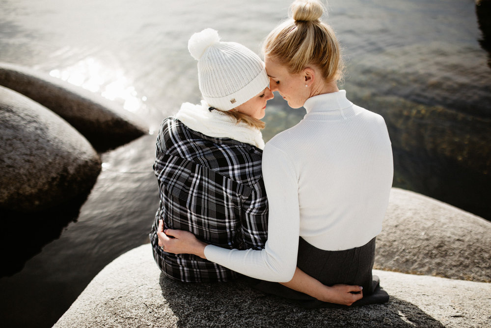 Lake Tahoe same sex engagement photos