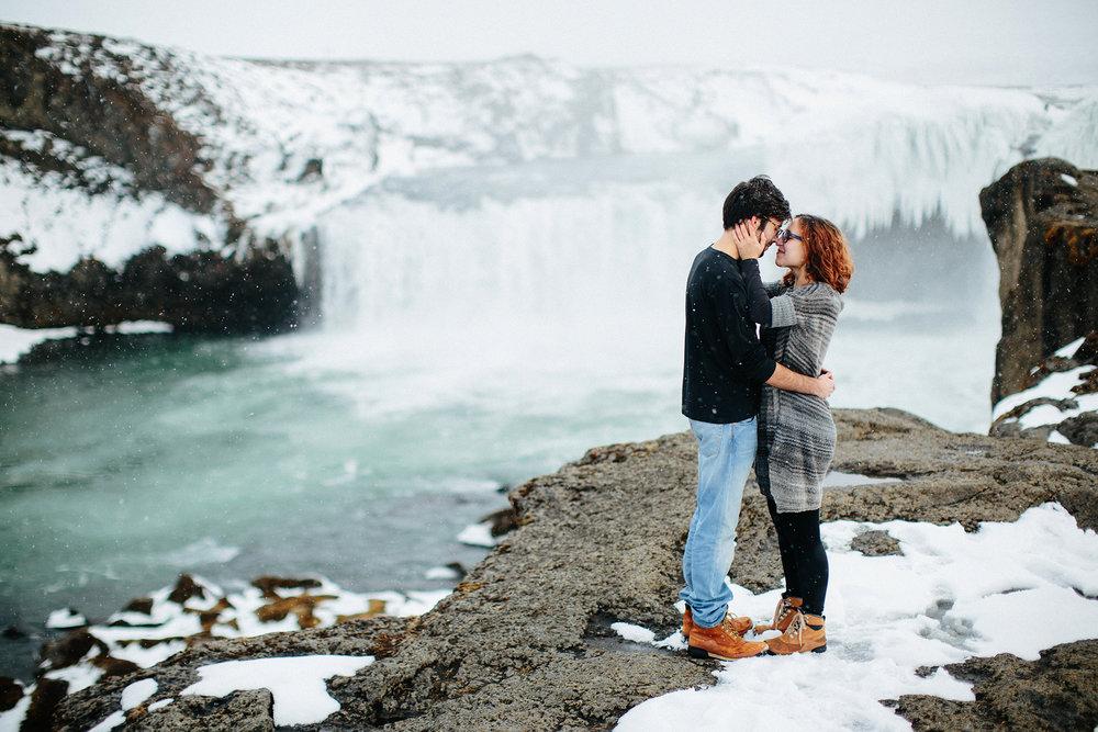 David + Anna in Iceland
