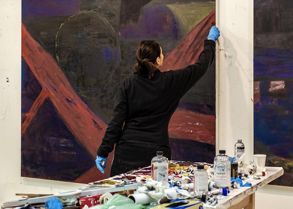 Iona Kleinhaut in her Brooklyn studio.