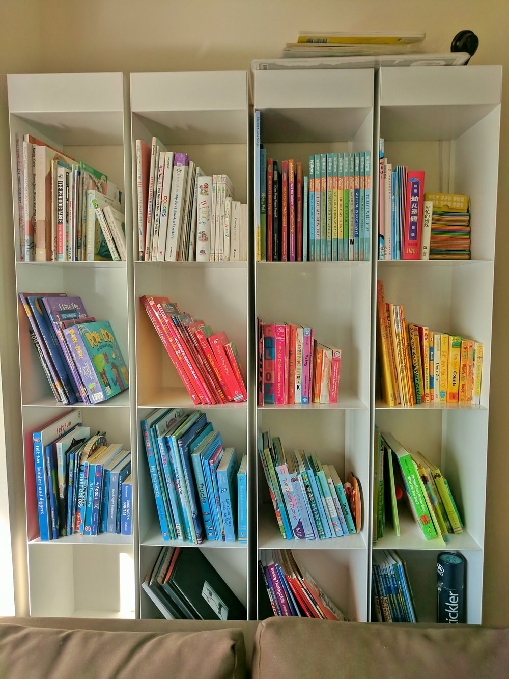 Aaah - Color coordinated kids books - Aesthetically pleasing to parents and kids alike.