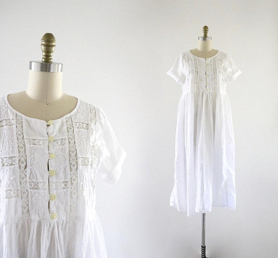 lace cotton dress