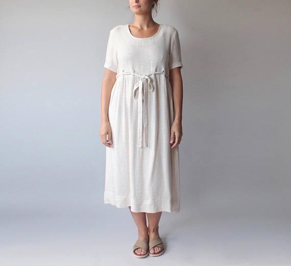 flax midi dress