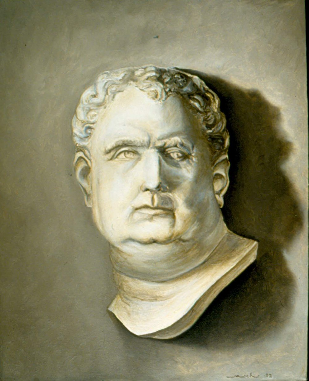 ceasar bust - oil painting