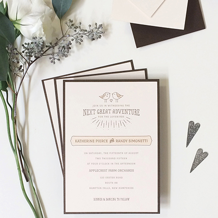 Lovebirds Wedding Invitation Suite Love Everly Studio